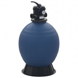 Filtro de arena de piscina válvula de 6 posiciones azul 560 mm