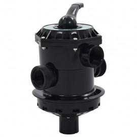 """Valvula multipuerto para filtro de arena ABS 1,5"""" 6 vías"""