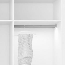 Barra para armario con luz LED, regulable 408-558 mm, 2,6 W-12V DC, sensor de movimiento, Luz Blanca natural, Aluminio, Anodizad