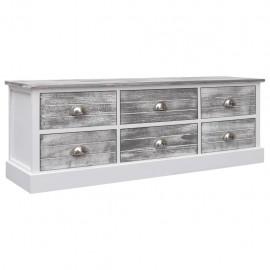 Mueble para TV de madera gris 115x30x40 cm