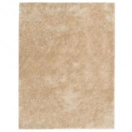 Alfombra de pelo beige 160x230 cm