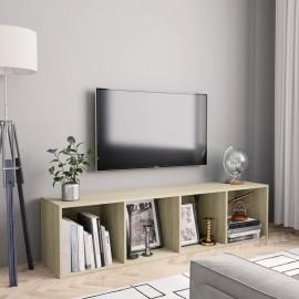 Estantería/mueble para TV color roble Sonoma 143x30x36 cm