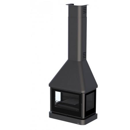 Chimenea Metalica Para Colgar Con Turbina  Modelo Lisboa-C