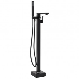 Grifo para bañera de pie acero inoxidable negro 90 cm