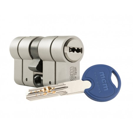 Cilindro Seguridad 40X40Mm Mcm Niq Scxplus Dob.Embr. Scx+Den:40-40