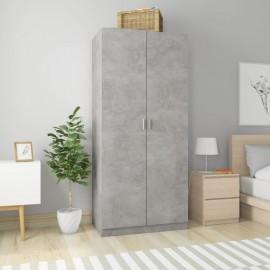 Armario de aglomerado gris hormigón 90x52x200 cm