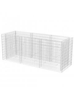 Jardinera de gaviones de acero 270x90x100 cm