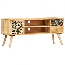 Mueble para TV madera maciza de mango 100x30x45 cm