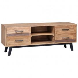 Mueble para TV de madera maciza de teca 120x30x45 cm