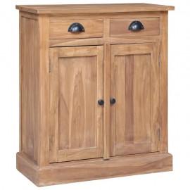 Mesita de noche de madera maciza de teca 65x30x75 cm