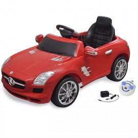 Coche correpasillos eléctrico SLS AMG con mando a distancia, 6 V, Rojo