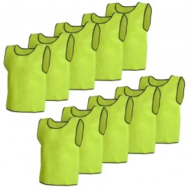 10 petos deportivos amarillos juveniles