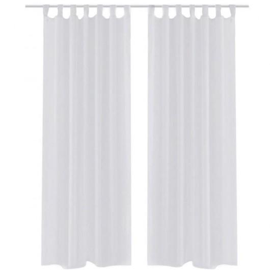 2 Cortinas blancas transparentes 140 x 245 cm