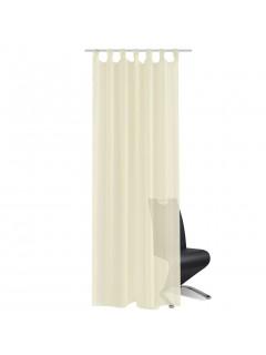 2 Cortinas color crema transparentes 140 x 245 cm