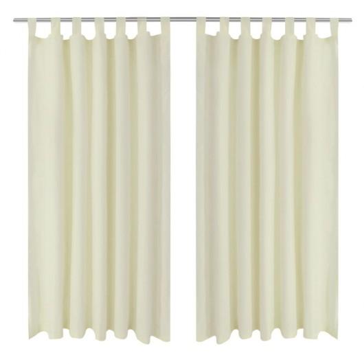 2 cortinas micro-satinadas con trabillas 140 x 225 cm