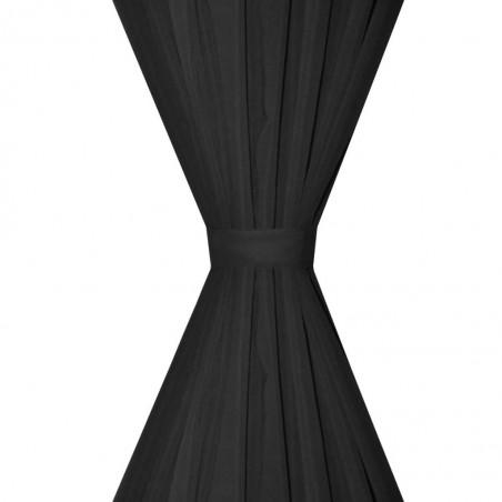 Cortinas opacas 2 ud doble capa 140x245 cm negro ahorro energía