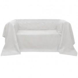 Funda color crema para sofá de micro-gamuza, 210 x 280 cm