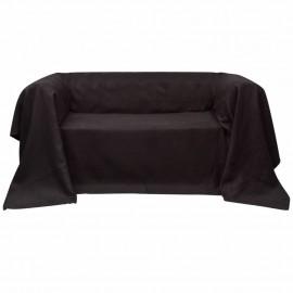 Funda marrón para sofá de micro-gamuza, 140 x 210 cm