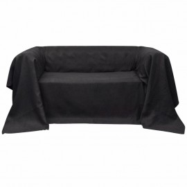 Funda color antracita para sofá de micro-gamuza, 210 x 280 cm