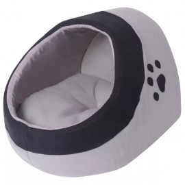 Cama nido para gatos con cojín Gris y Negro L