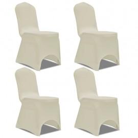 Funda para silla elástica 4 unidades crema