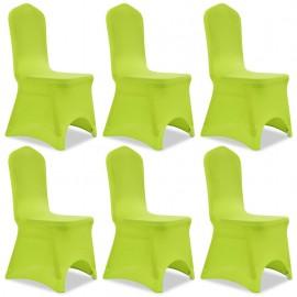 Funda de silla elástica 6 unidades verde