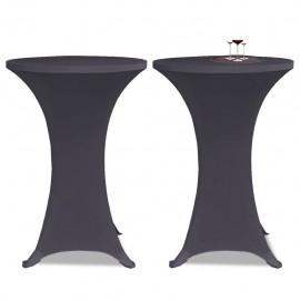 Funda elástica para mesa 2 unidades 60 cm gris antracita