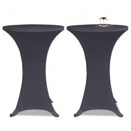 Funda elástica para mesa 2 unidades 80 cm gris antracita