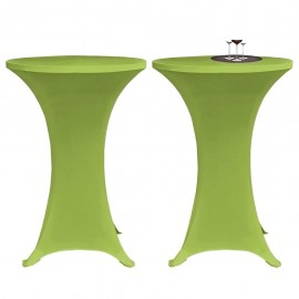 Funda elástica para mesa 2 unidades 70 cm verde