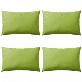 Cojines para exteriores 60x40 cm verde manzana 4 unidades