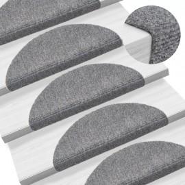 Alfombrillas escaleras autoadherente 15 uds 54x16x4cm gris claro