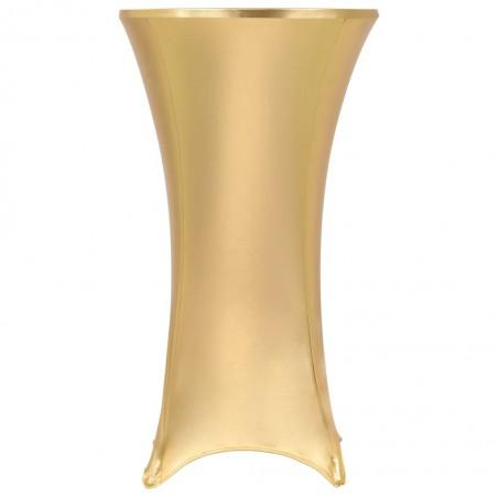 Fundas de mesa elásticas 2 uds 60 cm dorado