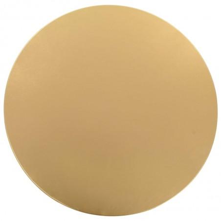 Fundas de mesa elásticas 2 unidades 80 cm dorado