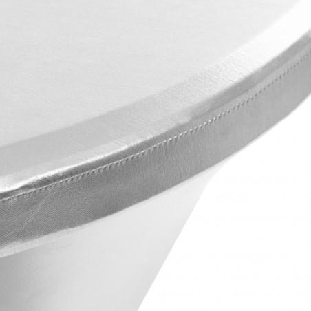 Fundas de mesa elásticas 2 unidades 60 cm plateado