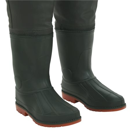 Vadeador con botas verde talla 39