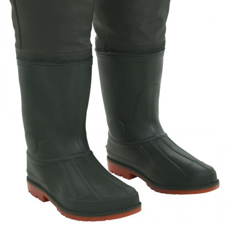 Vadeador con botas verde talla 41