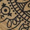 Alfombra de yute tejida a mano con estampado azul oscuro 150 cm