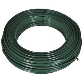 Alambre para vallas 55 m 2,1/3,1 mm acero verde