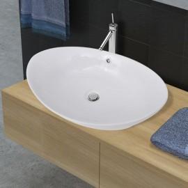 Lavabo Ovalado De Cerámica Con Desbordamiento 59 x 38,5cm