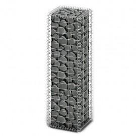 Cesta para muro de gaviones de alambre galvanizado 100x30x30 cm