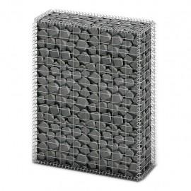 Cesta para muro de gaviones de alambre galvanizado 100x80x30 cm