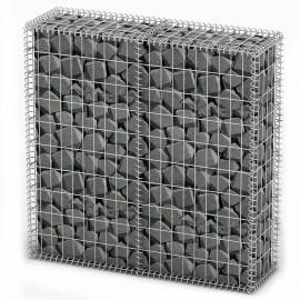 Cesta para muro de gaviones de alambre galvanizado 100x100x30cm
