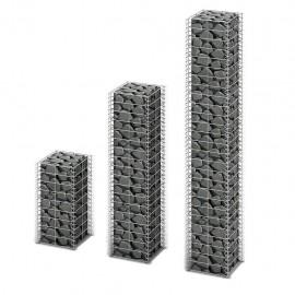 Cestas de muro de gaviones alambre galvanizado 3 unidades
