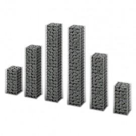 Cestas de muro de gaviones alambre galvanizado 6 unidades