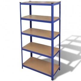 Estante de almacenamiento azul