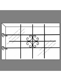 Rejilla de seguridad para la ventana 69 x 114 cm