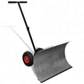 Pala de nieve manual con ruedas