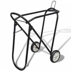 Soporte metálico y plegable para silla de montar a caballo