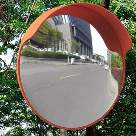 Espejo convexo exteriores para el tráfico marco naranja 45 cm