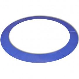 Alfombrilla de seguridad de cama elástica redonda 3,05m azul PE